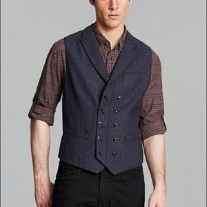 John Varvatos Star USA double breasted vest